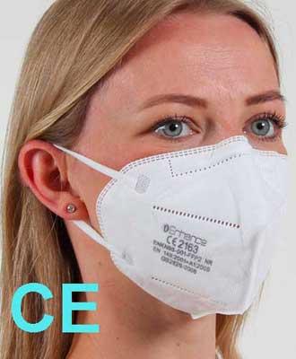 mascherina FFP2 certificata CE DPI