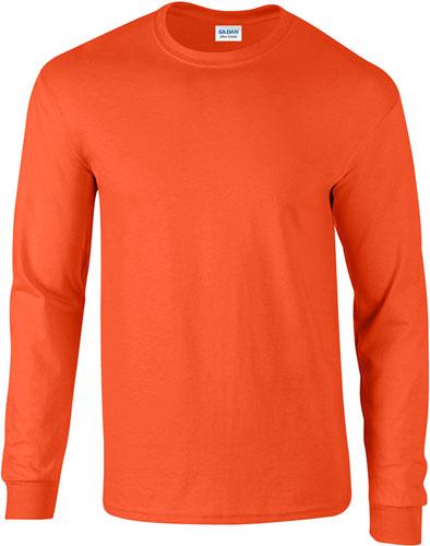 newest de9c3 67e61 Maglietta T-Shirt maniche lunghe Gildan girocollo, pesante ...