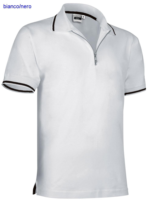 ... E3Ssport Polo Maglietta VA manica corta uomo con cerniera corta unisex  610VA4A E3S ... 9f21780f65e