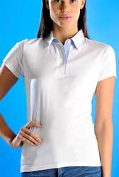 Polo manica corta Donna MYDAY 3 bottoni con inserti E0470 666MD1A E3Ssport.it Stampa RicamoE3Ssport  E3S